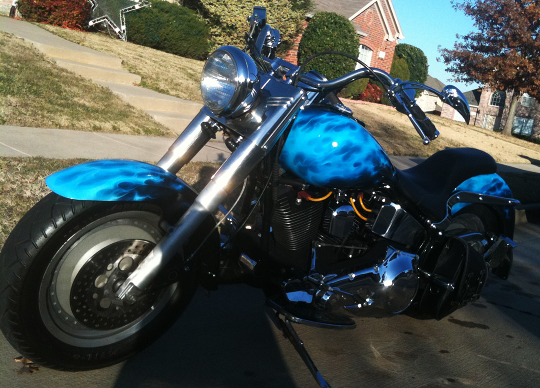 Blue-True-Fire-Softail-Side