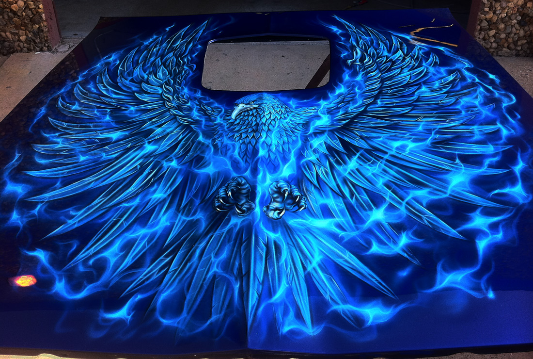 Airbrush Art On Cars Blue Pictures To Pin On Pinterest