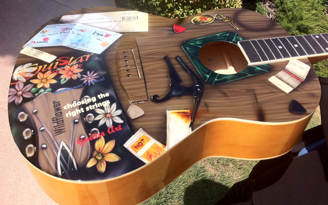 Custom Painted Airbrushed Acoustic Guitar