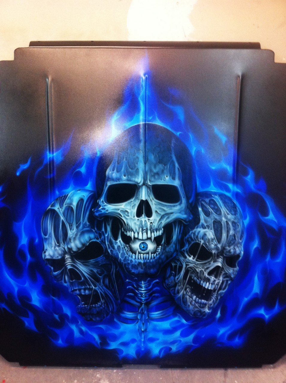 Custom Painted Sandrail Airbrushed Grim Reaper And Skulls