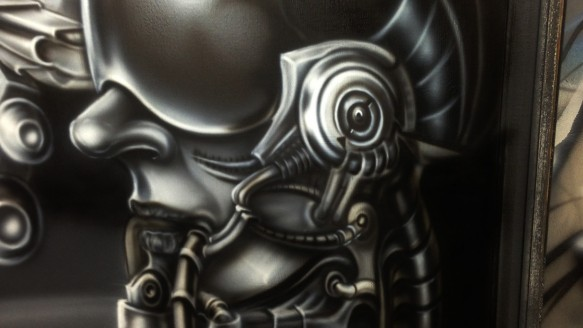 Airbrushed Metal Effects Fx Archives Dallas Airbrushdallas Airbrush