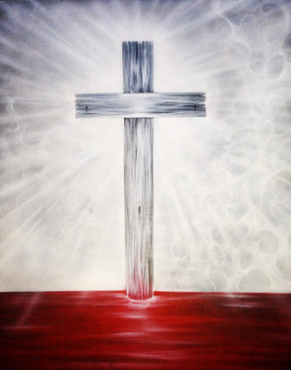 Airbrushed cross canvas painting dallas airbrushdallas for Cross paintings on canvas