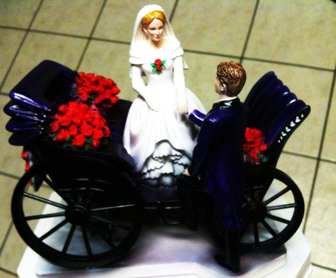 Styrofoam Church Cake Topper