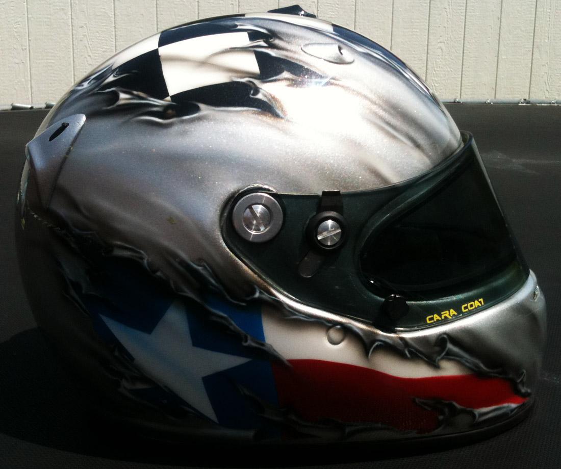 Texas Tearout Custom Painted Motorcycle Helmet Dallas