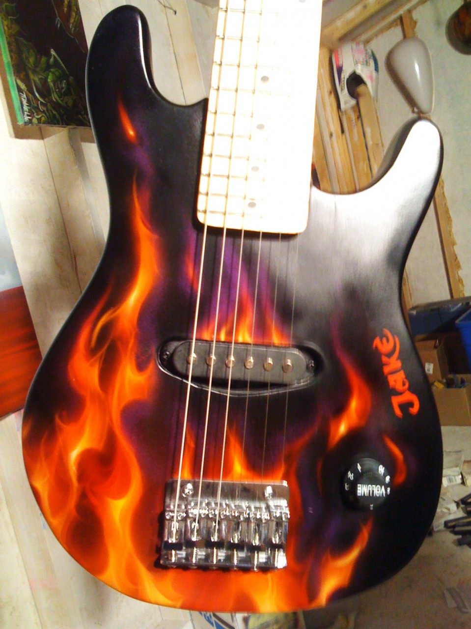True Fire Custom Painted Guitar For Jake Dallas AirbrushDallas