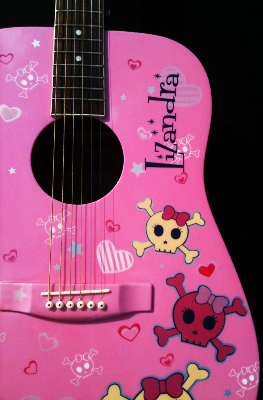 Custom Painted Acoustic Guitar Sugar Skulls Lizandra