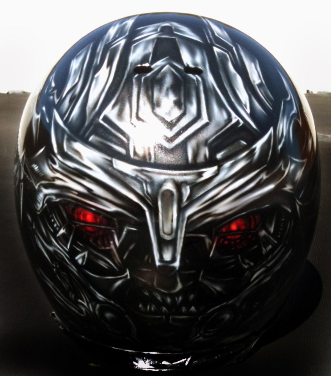 Custom Airbrushed Helmets Transformers Megatron Optimus